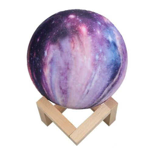 3D Print Galaxy Star LED Moon Lamp 3//7//16Color Changing Touch Switch Night L #SN