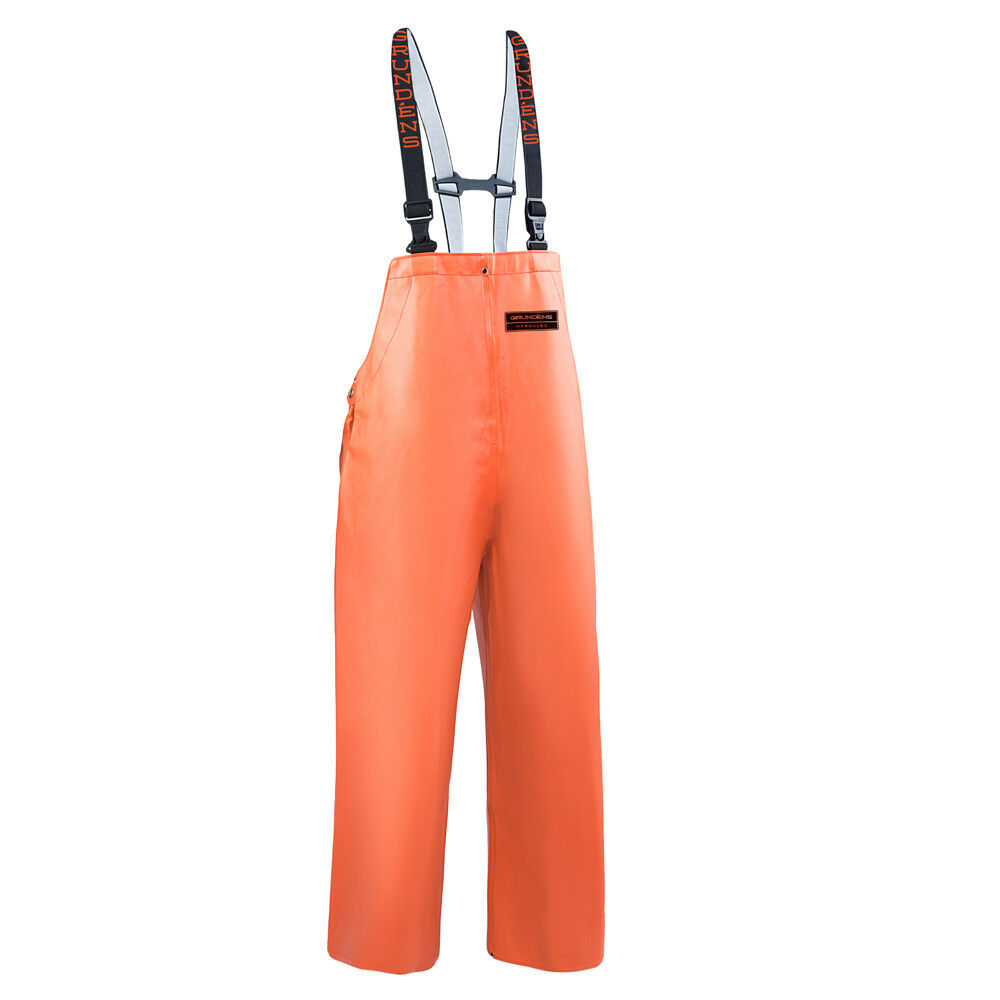 Grundens Herkules 16 All Weather Bib Pant Trousers - orange  - Select Size  leisure
