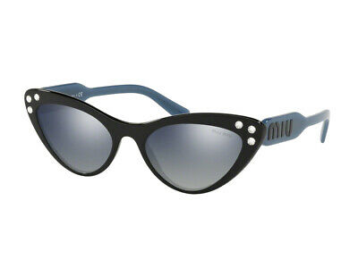 Amichevole Occhiali Da Sole Miu Miu Autentici Mu 05ts Blu Grgio Specchiato 1ab3a0 Alta Qualità