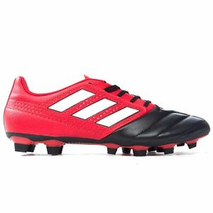 ADIDAS-ACE-17-4-FG-Firm-Ground-pour-homme-Football-Boot-Noir-Rouge
