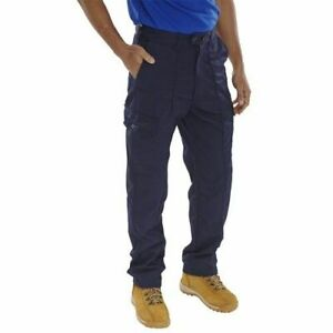 Click-Workwear-Super-Polycotton-Work-Trousers-Navy-Blue-34-034