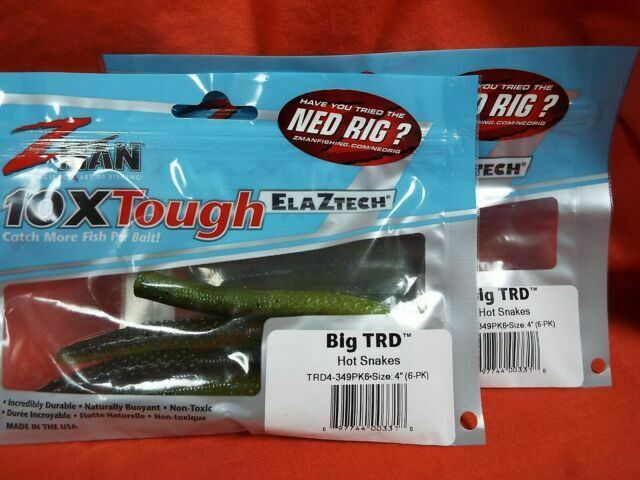 Soft Plastic Bait 6-Pack CHOOSE YOUR COLOR Z-Man Big TRD 4 in