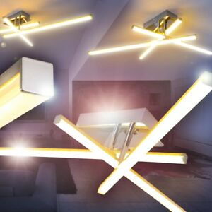 LED Lámpara de techo moderno cromo luces giratorias salon dormitorio ...