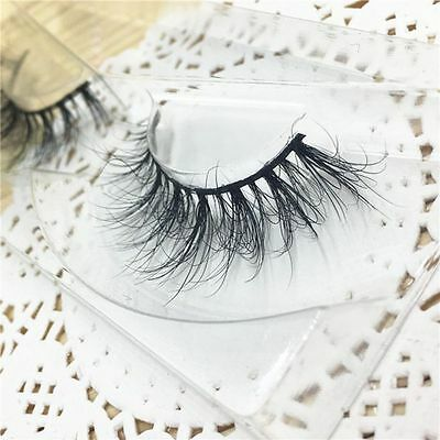 Long Mutilayer 100% Real 3D Mink Fur Messy False Eyelshes Eye Lashes Extension