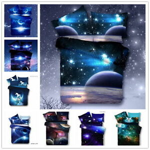 3D New Galaxy Bedding Sets Universe Outer Space Duvet cover Bed Sheet