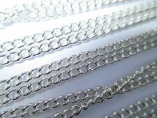 "UK Wholesale Jewellery 12 X 18"" Silver Curb Link Necklace Pendant Locket Chain"