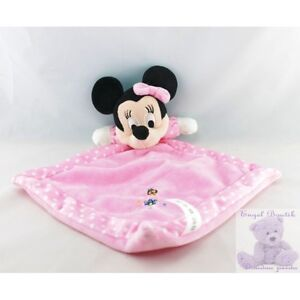 13568-Doudou-plat-minnie-rose-pois-coccinelle-DISNEY-LOT-DE-2-Security-blank