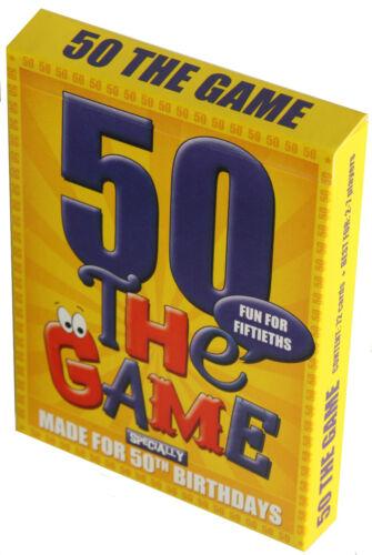 Plus 50º Envoltorio De Regalo! 50 Aniversario Gift Idea-un juego de cartas especialmente para 50ths