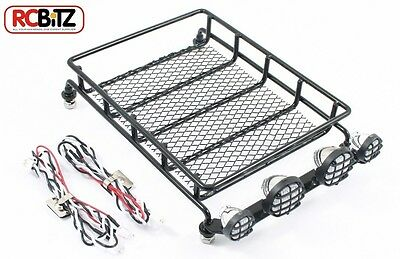 Fastrax METAL Roof Rack WITH LED's LARGE light pods lenses bolt fitting luggage