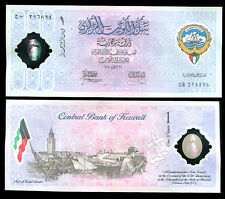 KUWAIT 1 DINAR POLYMER 2001 P CS2 COMM. UNC WITH FOLDER