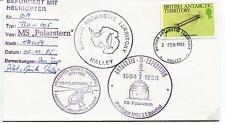 1985 Befordert Mit Helikopter FS Polarstern Antarktis III Polar Cover SIGNED