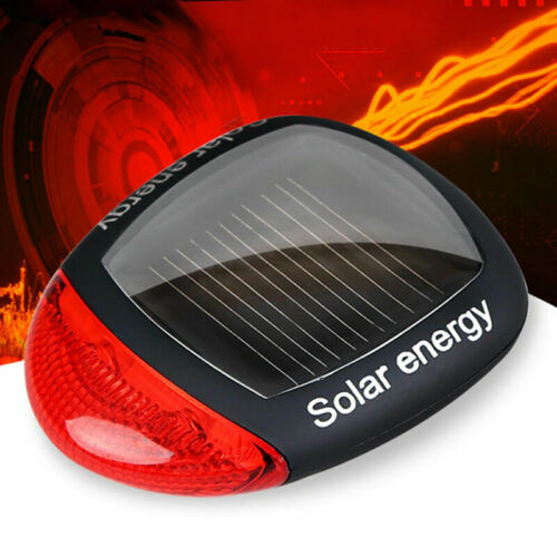 LED Tail Light J2Z3 3 Function Solar Powered MTB Bicycle Rear Back Safety A