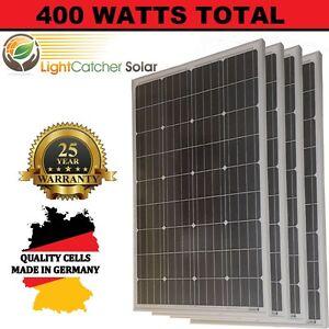 4pcs 100w watts 100 watt solar panels mono german 12 volt 12v rv image is loading 4pcs 100w watts 100 watt solar panels mono solutioingenieria Image collections