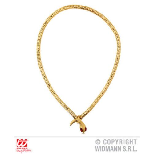 Gold Ladies Snake Necklace Egyptian Red Gem Eyes Jewellery Ancient Pharaoh