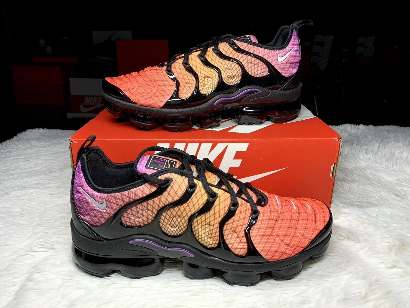 Size 10.5 - Nike Air VaporMax Plus Grid Sunset 2019 for sale ...