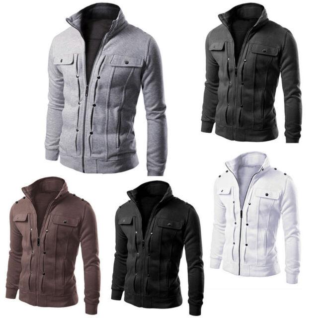 90f558f95ed54 Fashion Men's Slim Winter Coat Jacket Outerwear Overcoat Casual Tops Warm  Blazer