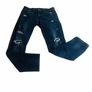 American Eagle Mens Jeans Slim 31x30 Destroyed Distressed Denim Pants