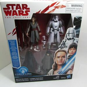 Figure DISNEY Hasbro STAR WARS The Last Jedi BATTLE ON CRAIT Rey Crait Defense