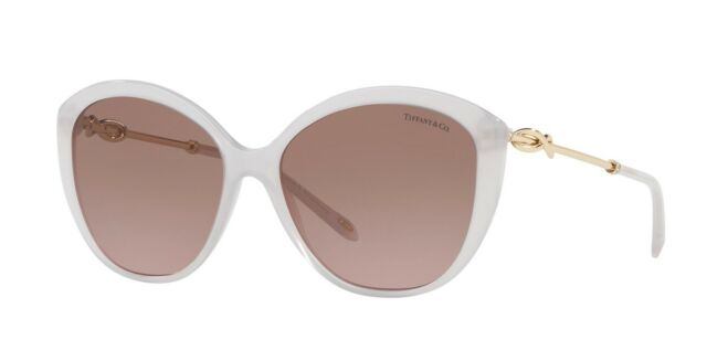 f35d6fb361eb Tiffany INFINITY TF 4144B White Violet Brown Shaded (8243 9T) Sunglasses