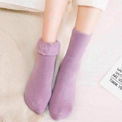 Details about  /Luxury Women Warm Wool Cashmere Fleece Thicken Thermal Soft Solid Winter Socks
