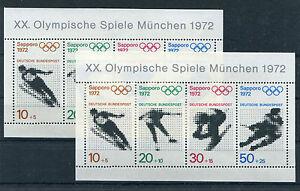 Bund-Block-6-postfrisch-2-Stueck-Olympia-Sapporo-BRD-1972-Sport-Sammlung