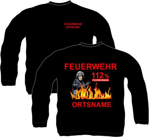 Feuerwehr Sweatshirt Pullover Bekleidung Ausrüstung Ortsname Wunschname FFW 30