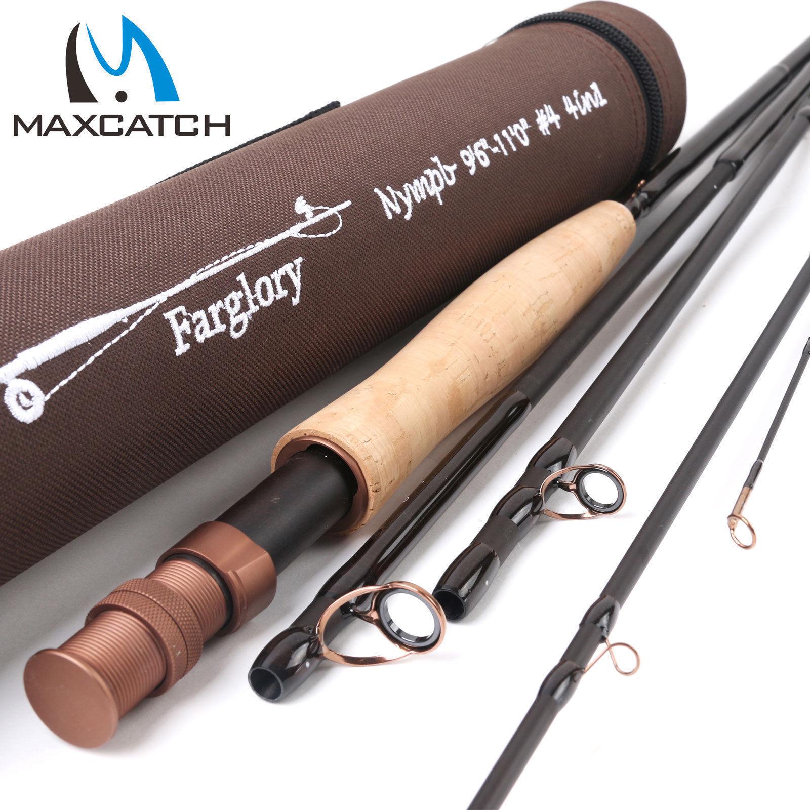 Maxcatch Farglory Nymph Fliegenrute  4  5 9'0 -10'6    9'6''-11'0'' Angelrute    Verkaufspreis