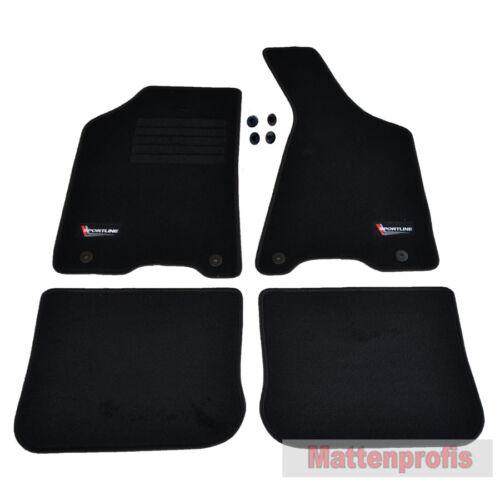 Mattenprofis Velours SpLine Fußmatten für Audi 80 B4 ab Bj.09//1991 bis Bj.1996