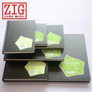 Mont-Marte-SketchBook-Hardback-BLACK-cover-German-drawing-paper-150gsm-50-Sheets