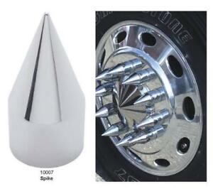 Details about Peterbilt Freightliner Chrome Spike Lug Nut Cover 60 PC