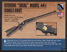 STEVENS IDEAL MODEL 44 1/2 SINGLE SHOT RIFLE Gun Classic Firearms PHOTO CARD