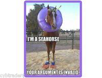 Funny Horse Sea Horse Refrigerator / Tool Box Magnet Stallion