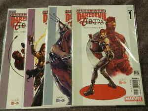 2003-MARVEL-Comics-ULTIMATE-DAREDEVIL-ELEKTRA-1-4-Complete-Limited-Series-VF-NM