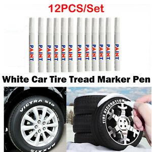 12PCS-Universal-Tire-Pen-White-Permanent-Car-Tire-Tread-Rubber-Paint-Marker-Pen