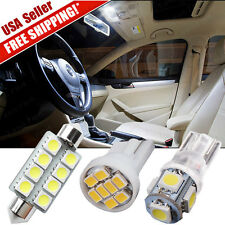 """10X White T10 194 5050 SMD + 42MM 1.72"""" 578 Interior Trunk Map Dome Package Kit"""