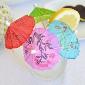 60 mini umbrellas parasol toothpicks cocktail party pick tropical