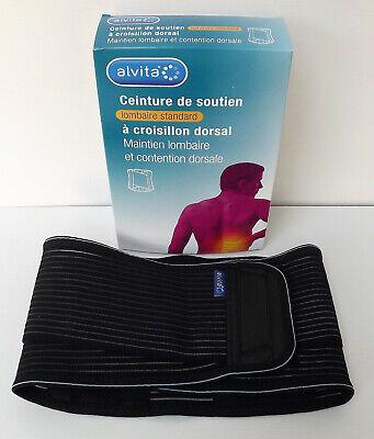 Alvita Ceinture De Soutien Lombaire Standard à Croisillon Dorsal Taille 2 Neuf