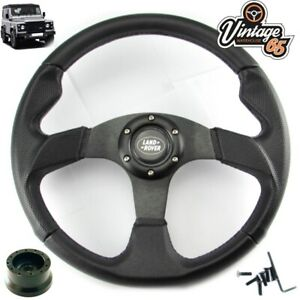 Land-Rover-Defender-Black-Motorsport-Steering-Wheel-48-Spline-Boss-Kit-Horn