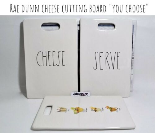 "Rae Dunn Cheese Cutting Board CHEESE SERVE /""YOU CHOOSE/"" NEW HTF RARE /'18"