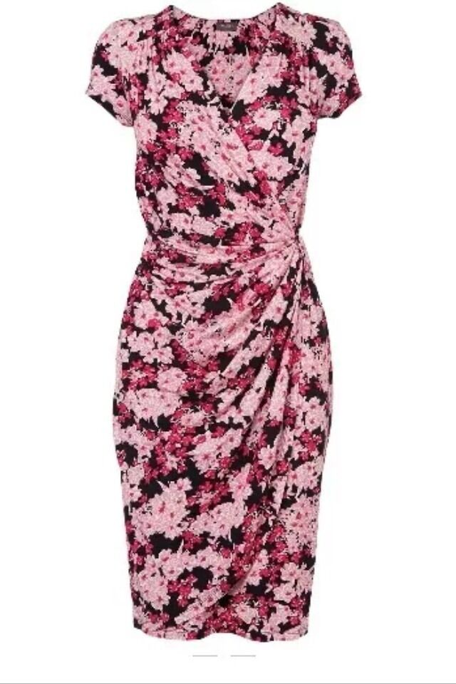 Brand New Phase Eight  8 Jeanie pink floral dress Size 18