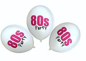 80s-Party-12-034-Balloons-Decorations-Multicoloured-Pink-I-Love-80-039-s-Neon-Disco