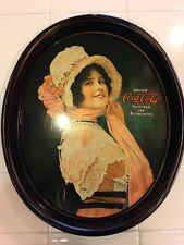 "Coca Cola Metal Tray 1914 ""Betty Girl"" Ad Campaign Reproduction"