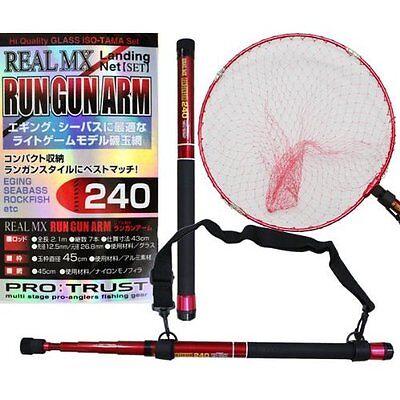 PRO TRUST Telescopic Handle Dip Net Fish Landing RUN GUN ARM 300 w// Tracking NEW