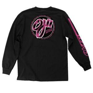 Santa-Cruz-OJ2-ELITE-THANES-LONG-SLEEVE-Skateboard-T-Shirt-BLACK-XL