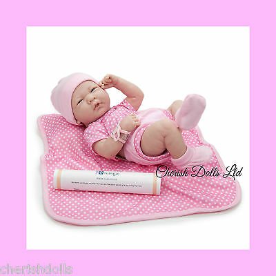 """BABY GIRL BERENGUER BLANKET NOT A REBORN 14"""" PLAY DOLL ANATOMICALLY CORRECT"""