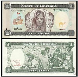 Eritrea Banknote 1 Nakfa 1997 (UNC) 全新 厄立特里亚 1纳克法 纸币 1997年