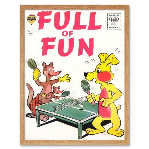 Ajax Retro Cubierta de libro de historietas Completo Ping Pong 12X16 pulgadas impresión arte enmarcado