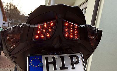 Schwarze LED Heck Blinker Suzuki GSX R 750 K6 K7 smoked rear signals LED