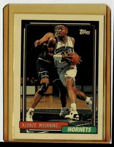 1992 TOPPS '92 DRAFT PICK/ROOKIE CARD NO. 393 ALONZO MOURNING CHARLOTTE HORNETS
