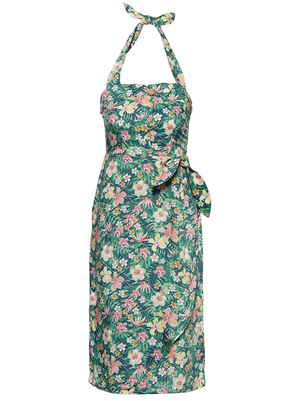 King Kerosin Queen Kerosin Damen Kleid Sommerkleid Hawaii Rockabilly 50s 5082
